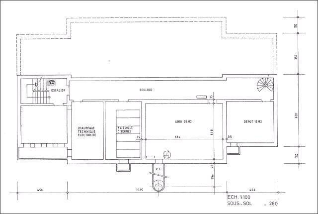 Plan du chalet La Niva - Sous-sol