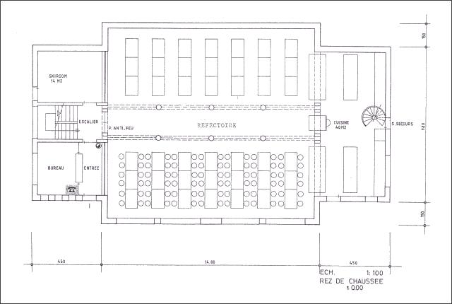 Plan du chalet La Niva - Rez de chaussée