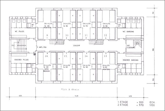 Plan du chalet La Niva - 1er et 2ème étage