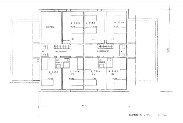 Plan du chalet La Niva - Combles