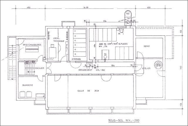 Plan du chalet Lana - Sous-sol