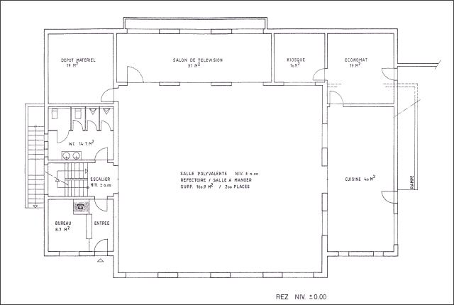 Plan du chalet Lana - Rez-de-chaussée
