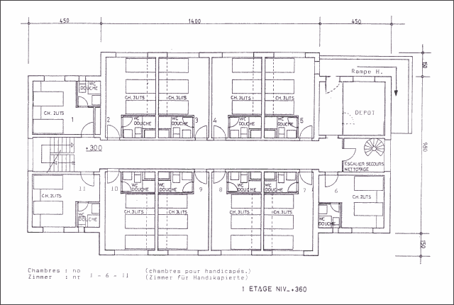 Plan du chalet Lana - 1er étage