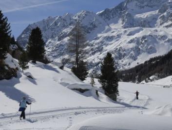 Les pistes de ski de fond du Val d'Hérens